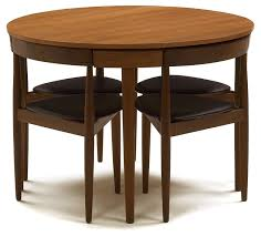 Compact Dinette Set By Hans Olsen For Frem Rojle Moblefabrik  The - Dining room table with hidden chairs