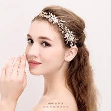 handmade headband pearl hair jewelry forehead hair
