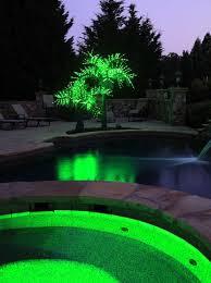 lighted palm trees 12 u0027 led palm tree natural green