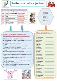 48 free esl prefixes worksheets
