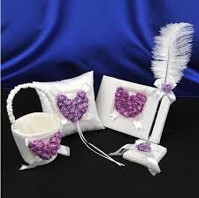 purple wedding guest book online cheap white purple 3d flower wedding guest book