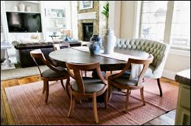 awesome curved settee for round dining table dining zone intended
