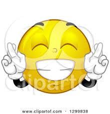 Fingers Crossed Meme - fingers crossed smiley face clipart