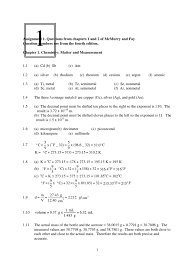 The Ideal And Combined Gas Laws Worksheet Answers Solution Manual Chemistry 4th Ed Mcmurry Significant