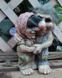 loved up talula and tarquin troll gnome garden gift