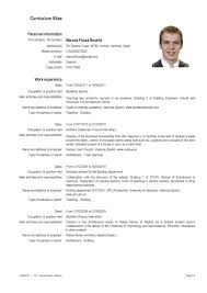 Job Resume Type by Resume French Resume For Your Job Application