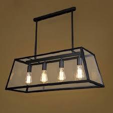 Industrial Island Lighting Fashion Style Rectangle Industrial Lighting Beautifulhalo Com