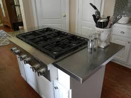 stainless kitchen island hack an affordable stainless steel kitchen island countertop