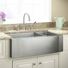 Hammered Copper Apron Front Sink by 33