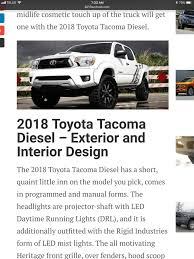 toyota truck diesel will 2018 tacoma have a v8 option with trd sport page 2