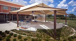Cool Shade Awnings Fabric Sail Shade Structures For Sun Protection At Playgrounds