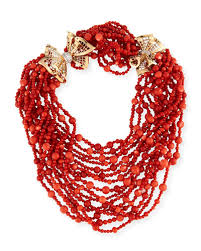 beaded coral necklace images Beaded coral necklace neiman marcus jpg