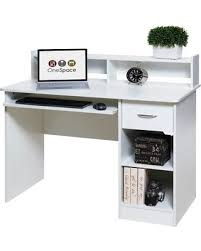 White Computer Desk With Hutch Sale Sweet Deal On Onespace 50 Ld0101 Essential Computer Desk Hutch