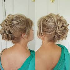 mother of the bride hairstyles partial updo mother of the bride updo for shorter hair hairstyles pinterest