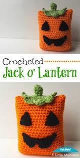 5 little monsters crocheted jack o u0027 lantern