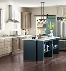 two toned kitchens are being upstaged by three color schemes