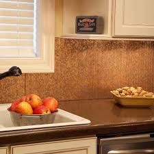 Copper Kitchen Backsplash Kitchen Backsplashes Hammered Copper Backsplash And Glass In