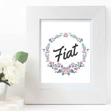 fiat virgin mary printable art quote floral wreath catholic
