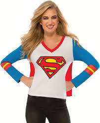 Womens Halloween T Shirts by Womens Superman Supergirl Superhero Sporty T Shirt Costume