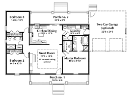 3 Bedroom Open Floor House Plans One Story Ranch House Plans Country House Plan First Floor