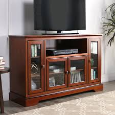 interior corner tv stand ikea design with brown wooden floor and