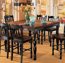 butterfly leaf counter height table black u0026 cherry stain for