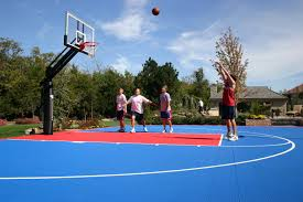 pricing on basketball tennis shuffleboard court built in your yard