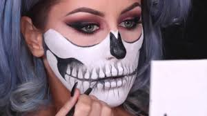 halloween skull makeup chrisspy makeup halloween youtube