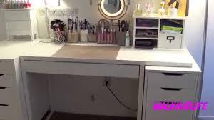 walkn4life my vanity table set up u0026 makeup organization youtube