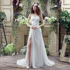 casual wedding dresses simple wedding dresses for casual wedding slit side