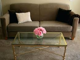 gold glass coffee table coffee tables coffee table antique gold glass top within metal small