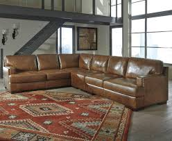 sofa leather reclining sectional leather sectional brown