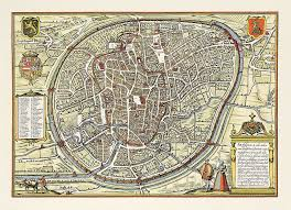 map brussels illustrated ancient map of brussels at the renaissance brussels
