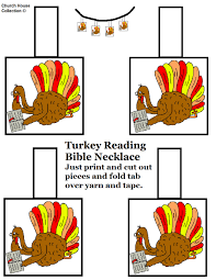 printable turkey necklace craft for thanksgiving