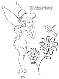 tinkerbell fairy coloring pages printable disney fairies