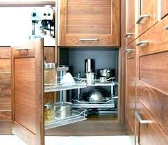 Corner Cabinet Storage Solutions Kitchen Corner Kitchen Cabinet Storage Getanyjob Co