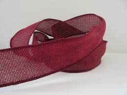 wide ribbon burgundy burlap ribbon wired 1 1 2 inch wide poly burlap faux