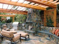 Light And Landscape - backyard wall block with paving stone also spot light and