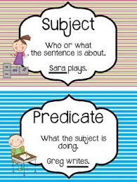 15 best subject and predicate images on pinterest grammar