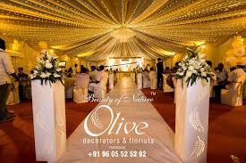wedding decorators olive decorators florists wedding decorators in thrissur