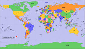 Usa Map With Names Map World Love Political Map Fabvis On Deviantart World Political
