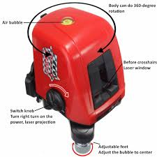 Self Leveling Table Feet Aculine Ak435 360degree Self Leveling Cross Laser Level Red 2 Line