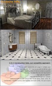 1 bed 1 bath house exclusive villa 1 bath and bedroom 3d models 3 d c