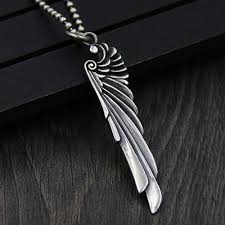silver wing necklace images Men 39 s sterling silver wing necklace jpg