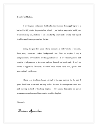 english teacher cover letter sample job and resume template