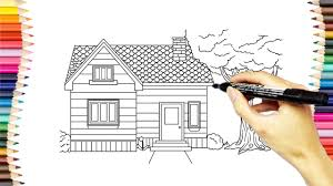 drawing house coloring pages how to draw and color house video