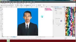 membuat gambar transparan di corel draw x7 cara mengganti background foto formal di coreldraw belajar