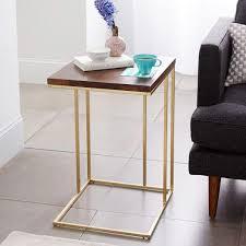 sofa c table charley walnut brass c side table