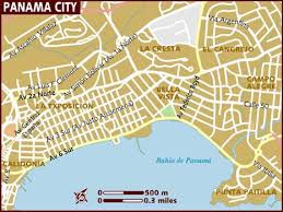 map of panama city map of panama city