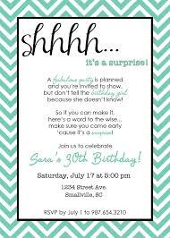 surprise 30th birthday invitation samples